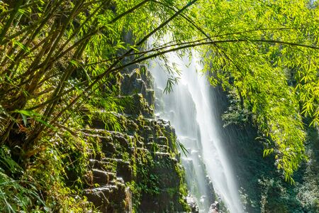 Love waterfall a famous waterfall in Sa Pa district , Lao Cai province, Vietnam. Reklamní fotografie - 138583697