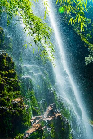 Love waterfall a famous waterfall in Sa Pa district , Lao Cai province, Vietnam.