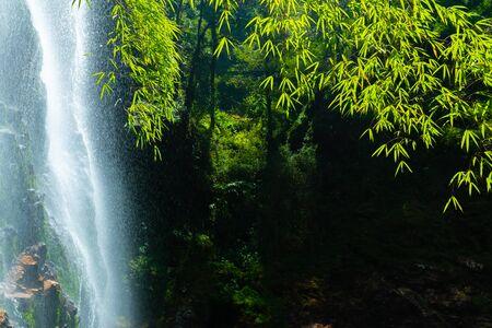 Love waterfall a famous waterfall in Sa Pa district, Lao Cai province, Vietnam 版權商用圖片