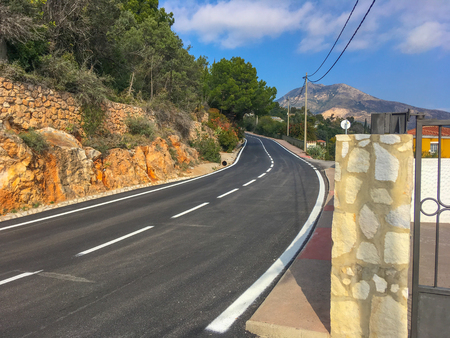 road in the mountain in Spain Foto de archivo