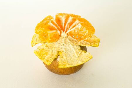 orange peel isolate on white background Stock Photo