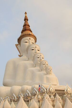 kaew: Five Big white Buddhas at Wat phasornkaew Temple,A view of Beautiful temple. Located in Phetchabun province northern of Thailand .