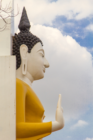 March 27, 2017 : Phra atta rassa : detail buddha statue at at Wat Pra sri rattana mahathat woramahavihan (Wat Yai) Phitsanulok, Thailand. Stock Photo