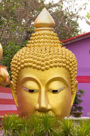 god walking: March 27, 2017 : Head of Buddha statue at Wat Sai Dong Yang Temple. Phichit, Thailand.