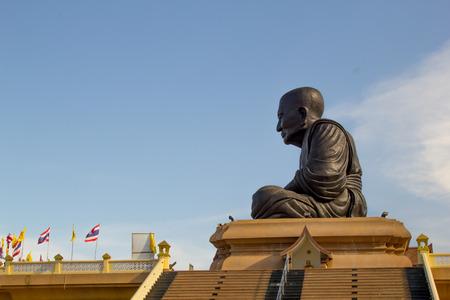 hua: Big Buddha Statue name is Luang Pu thuat at Wat Huay Mongkol temple, Hua-Hin, Prachuap Khiri Khan Province ,Thailand Stock Photo