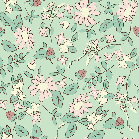 delicate: Delicate pattern in small flower. shabby chic Illustration