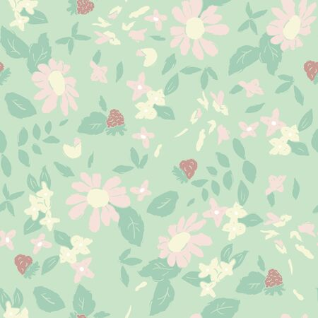 small flower: Delicate pattern in small flower. shabby chic Illustration