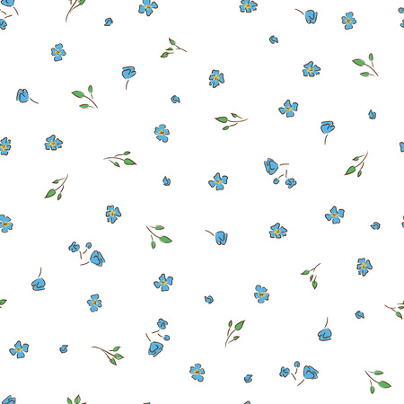 delicate: Delicate background. Small  floral Illustration