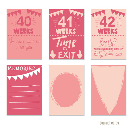 Pregnancy 12 weeks vector design templates for journal cards pregnancy 12 weeks vector design templates for journal cards scrapbooking cards greeting cards m4hsunfo