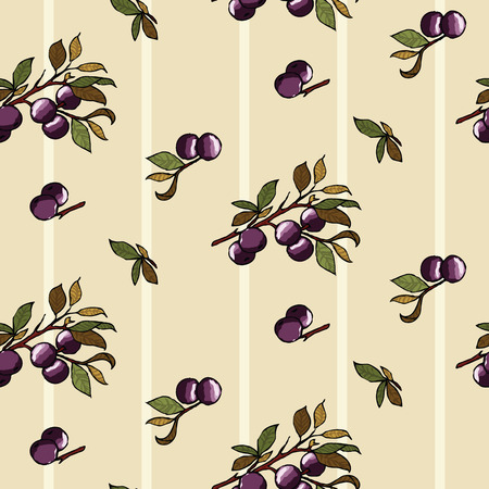 Blueberries on a beige background Ilustrace