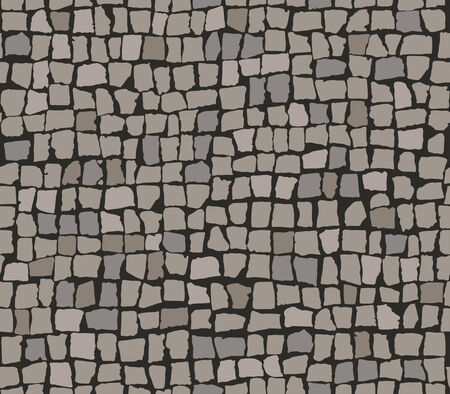 pave: Seamless pattern of paving stones. Illustration