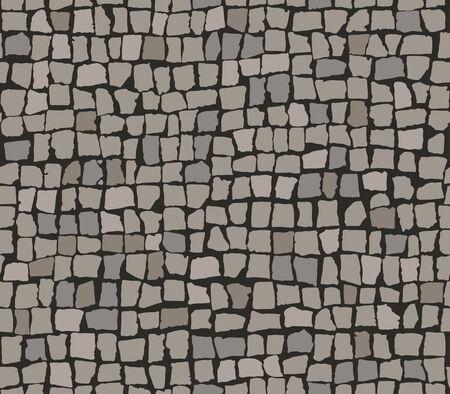 road paving: Seamless pattern of paving stones. Illustration