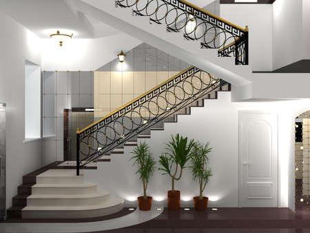 schody: Wnętrze z żeliwa ogrodzenia klasycznego stylu.