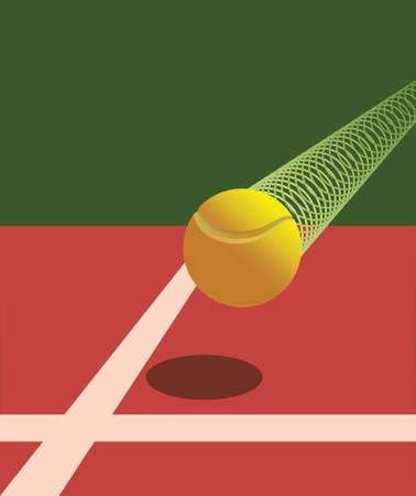 Victory Tennis Ball Stock Vector - 13528902