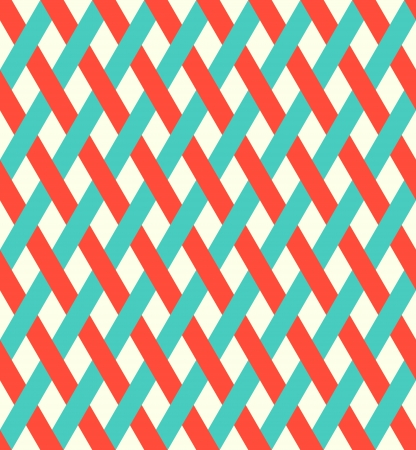 Retro seamless wicker pattern  Vector