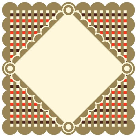 woven label: Retro Doily, decorative background for your text