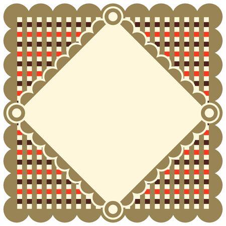 snug: Retro Doily, decorative background for your text