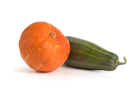 Orange Pumpkin and Zucchini  Stock Photo - 15398775