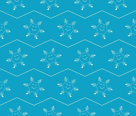 paper packing: Copos de nieve azul del modelo c�mico perfecta para el embalaje de papel