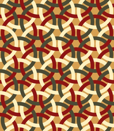 Decorative retro interlacing seamless pattern