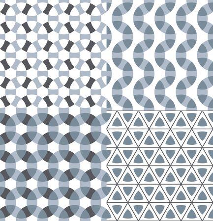 Geometric modular seamless patterns set