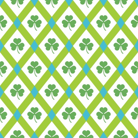Clover pattern spring seamless background. Stock Vector - 17965335