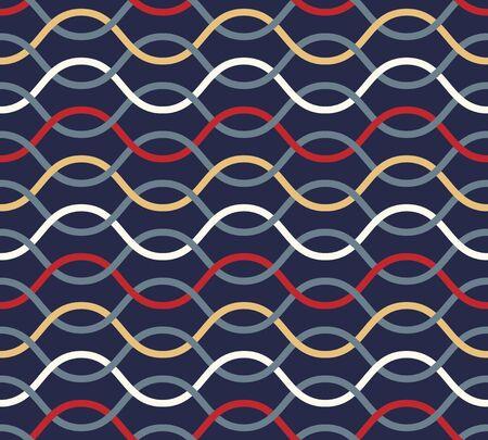 Retro seamless wavy pattern. Stock Vector - 18394350