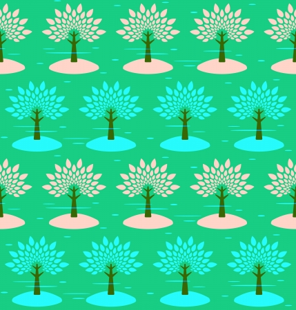 Blossoming trees. Seamless pattern. Vector background. Stock Vector - 18700123