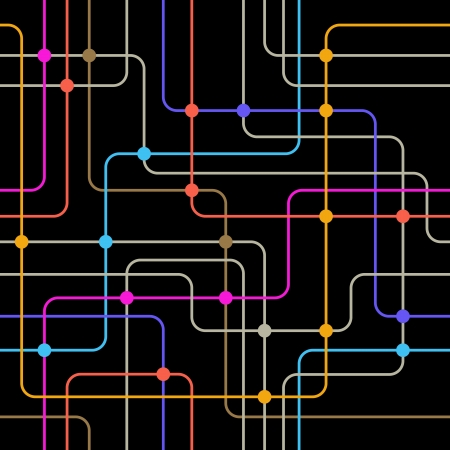 Communication network  Seamless background  Illustration