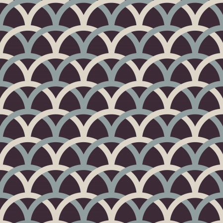 Retro interlacing seamless pattern  Vector background
