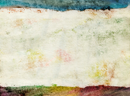 Vintage watercolor .High resolution of stained paper  Stock Photo