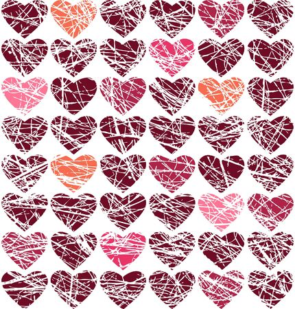 Vector seamless background for Valentine\