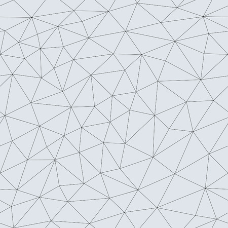 Abstract triangular mesh. Vector seamless linear background. Illustration
