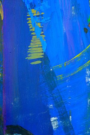 Vivid blue gouache background. Stock Photo