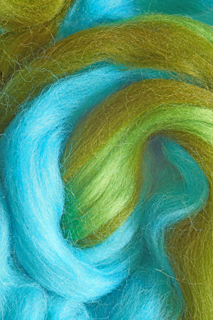 Felting wool. Colourful fibers of wool for wallow.