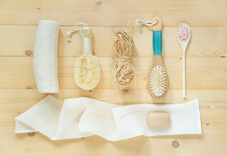 SPA accessories for bath or for dry air massage, revitalizes by exfoliating dead skin and promoting blood circulation.