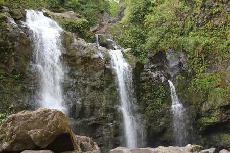 Three Waterfalls in Hana, Hawaii photo