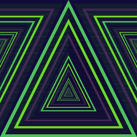 Patroonontwerp gescheiden tot 4 lagen - Achtergrond-lijn-lijn Driehoek-driehoek Stock Illustratie
