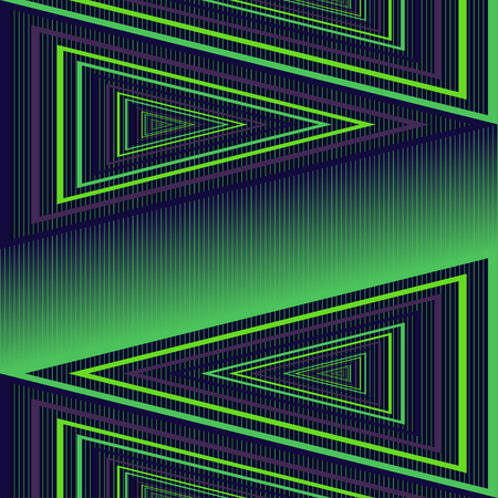 Vector Abstract Triangle Geometric Seamless Purple and Green Graphic Illusion Pattern Design With 2 Layers-Main Pattern-Background
