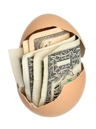 money in brown eggshell photo