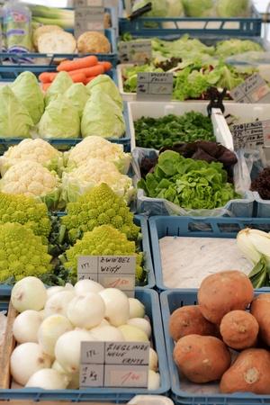 veg: veg stall with fresh veg