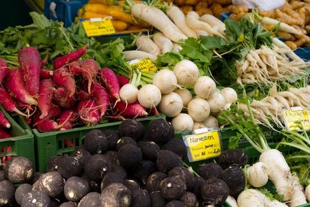 veg: fresh biological veg Stock Photo