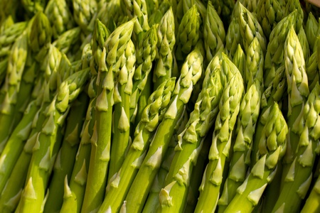 tasty green asparagus