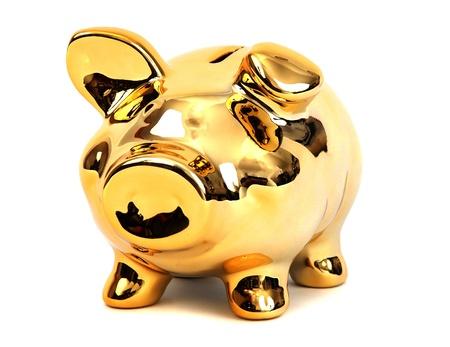 brilliant shining golden piggy bank Stock Photo - 12291006