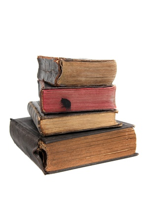 songbook: stack of old books Stock Photo