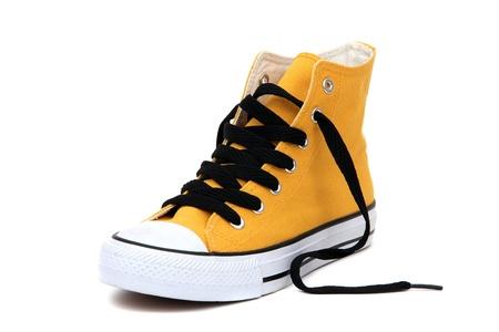 Sneaker with black latchet Stock Photo - 12291256
