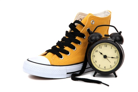 Sneaker with clock photo