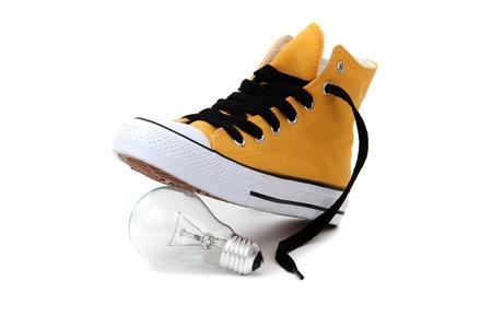 bulb under sneaker photo