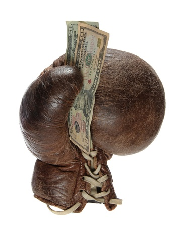 boxing glove with green back