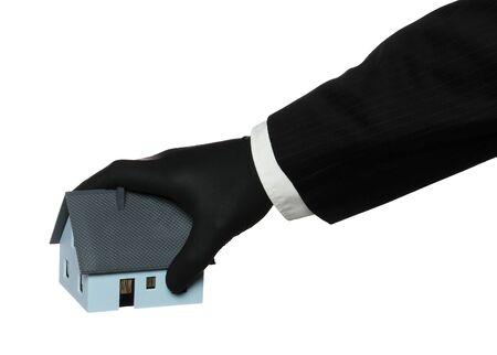 breakin: black rubber glove taking a house